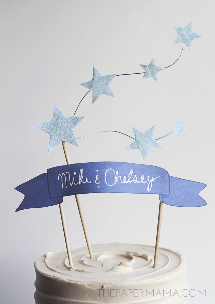Star and Banner Cake Topper on HP Create... would be adorbs for 1st bday topper!!