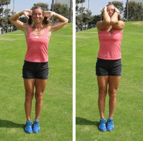 Prevent Tight Neck and Painful Shoulders with Elbow Curls, Arm Circles and Cats-and-Dogs