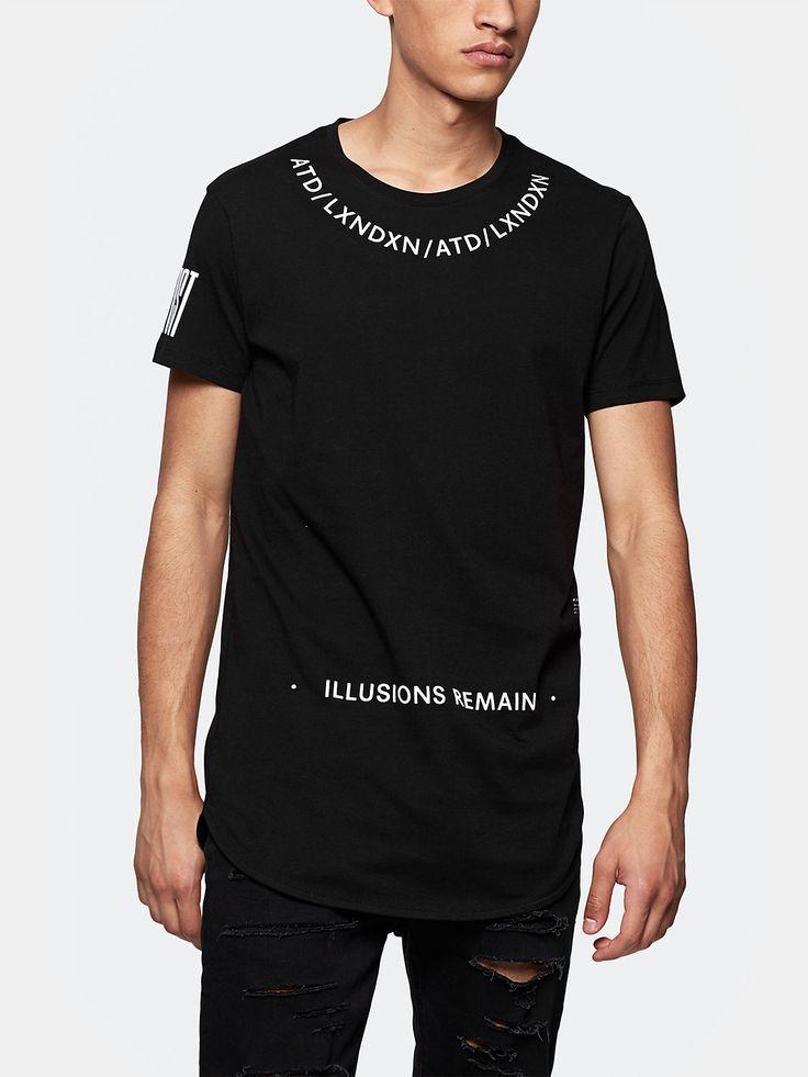 print t-shirt lang zwart
