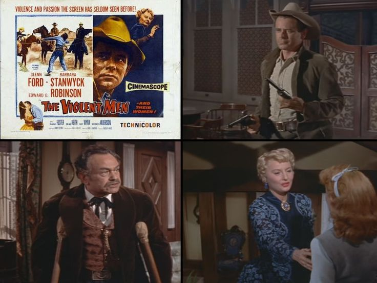 The Violent Men (1955) Glenn Ford is the rancher who ends up taking on a land baron who is forcing people off of their properties. But things are not all that they seem when it comes to who is pulling the strings