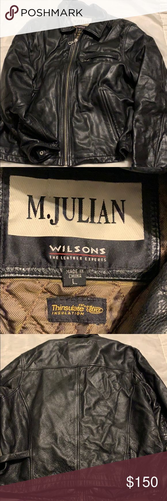 Size L black M. Julian heavy leather coat Leather coat