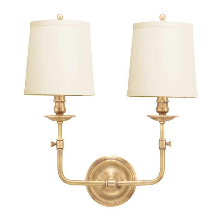 Logan Aged Brass Two Light Wall Sconce Hudson Valley 2 Light Armed Candle Wall Sconces Wal  sc 1 st  Pinterest & 192 best Lighting images on Pinterest | All products Light ... azcodes.com