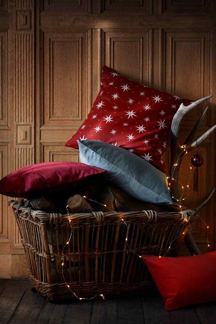 Sametový povlak na polštářek - Červená - HOME | H&M CZ 1