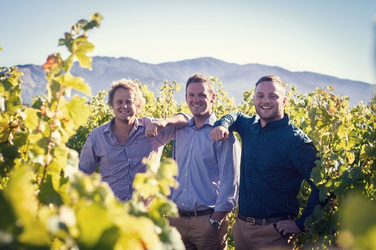 Brad Tiller - Vineyard Chief & his two Indians Jon McFall & Jerry Foley. April 2013