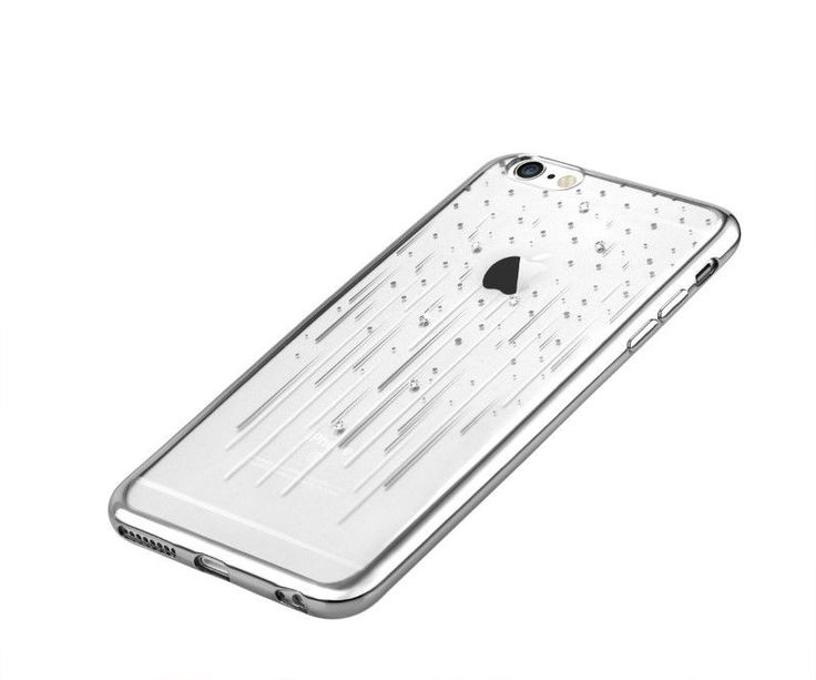 Cover Crystal Meteor Swarovsky for iPhone 6S/6 Plus Silver *M1P*