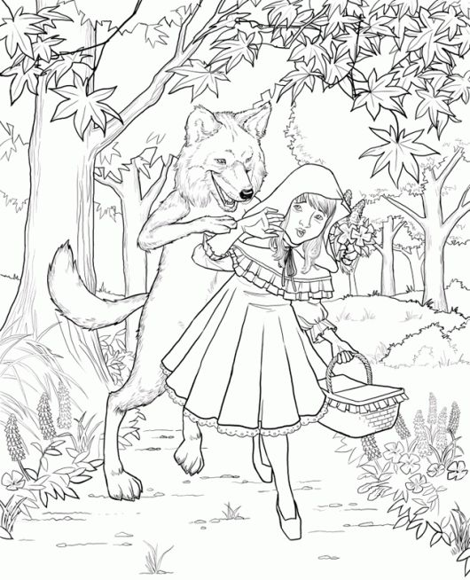15 best Best Little Red Riding Hood Coloring Pages images