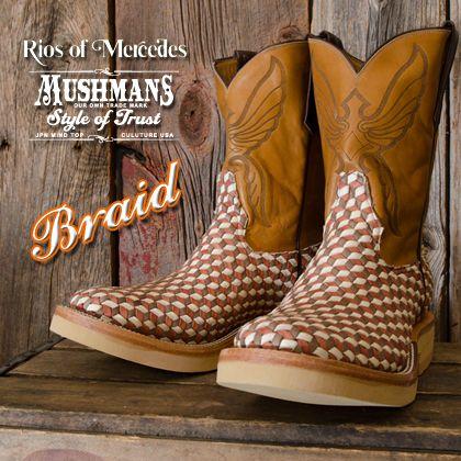 MUSHMANS別注 Rios of Mercedes Roper Boots Special Leather【Braid】 - MUSHMANS ONLINE SHOP | アメカジ通販 マッシュマンズ オンラインショップ