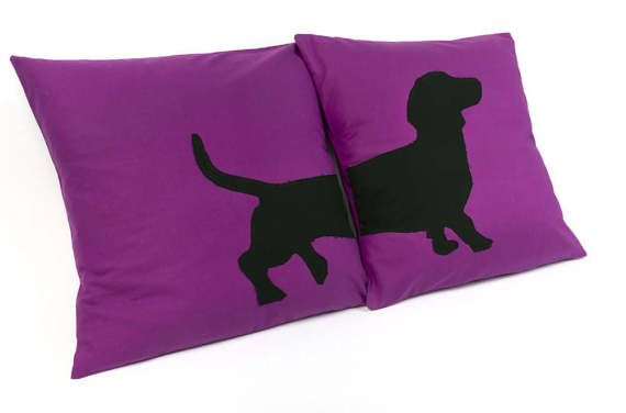 Dachshund Cushion Covers, Purple Cushion Covers, Sausage Dog Cushions, Dachshund Pillow, Feature Pillows, Living Room Decor  #purple #purpleinspo #homedecor #homedesign #homeinspo #interiordesign #purpleinteriordesign #purplecolourpalette #dachshund #dachshundcushion #cutedachshunds  #cushion #purplecushions #cutepets #cutedogs