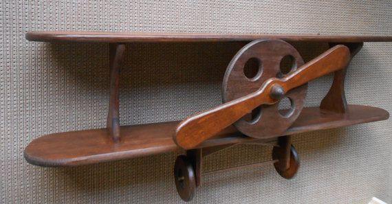 Wood Airplane Shelf  Aviation Decor  Airplane Shelf  by AtticJoys1