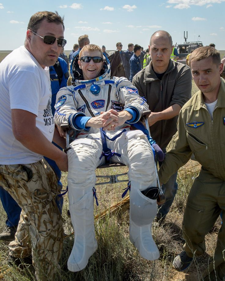 Astronaut Tim Peake returns to Earth - in pictures