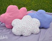 Cloud pillows (set of three), fabric clouds for hanging, other colors available