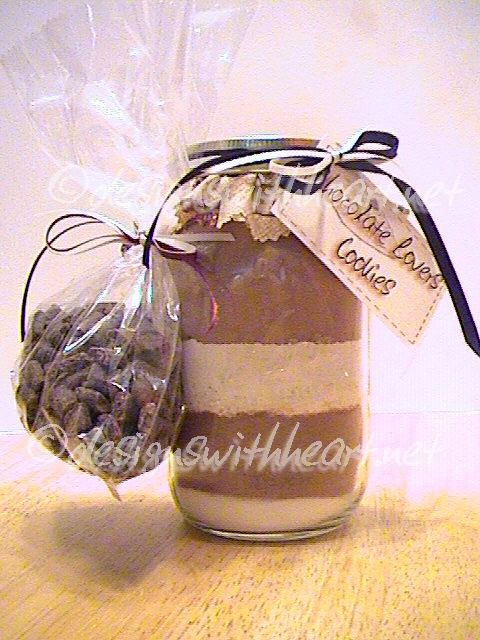 Chocolate Lovers  Cookies in a Jar
