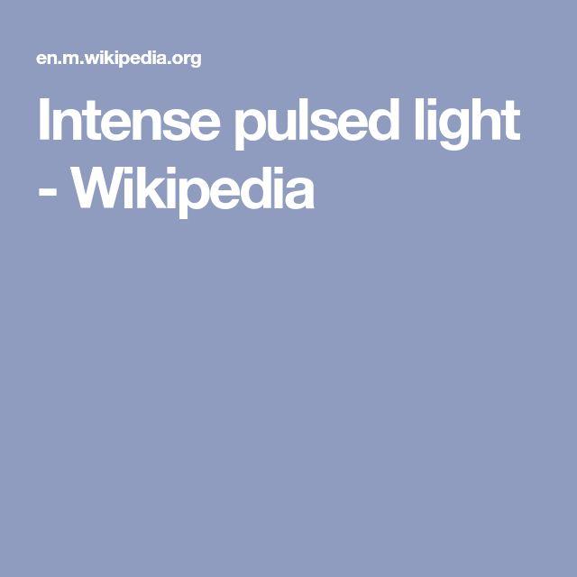 Intense pulsed light - Wikipedia