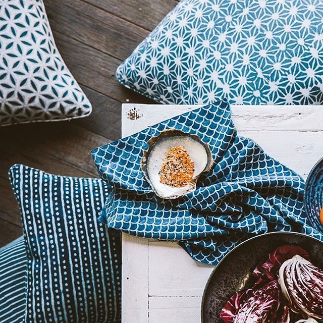 Salt Living | For those who live by the sea   #walterg #waltergtxtiles #blockprint #tablelinen