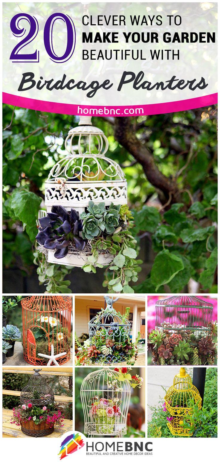 Birdcage+Planter+Design+Ideas