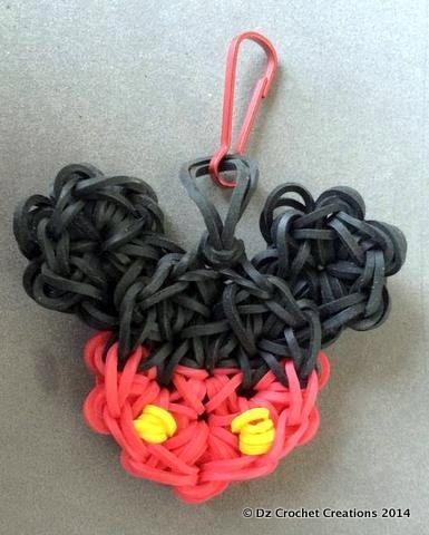 Mickey Mouse  Charm  Rainbow loom Charm  Zipper by HandMadeByDz, $4.00