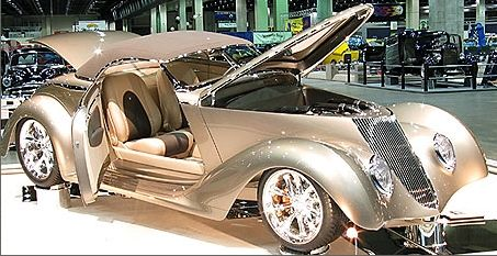 "Gorgeous Chip Foose designed & built '36 Ford Roadster ""Impression"". Winner of America's Most Beautiful Roadster 2006 @ 57th annual Grand National Roadster Show."