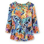 Mosaic Butterflies Top