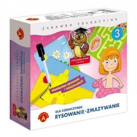 Witajcie:)   Zabawka Edukacyjna Rysowanie Zmazywanie dla Dziewczynek od lat 4.   Zabawa polega na rysowaniu po śladzie - dziecko uczy się właściwego kształtu przedmiotów, ćwiczy swoje umiejętności manualne, spostrzegawczość, koncentracje oraz logiczne myślenie i kojarzenie.  Wszystko dzięki 28 plansz na 14 tablicach.  Sprawdźcie sami:)  http://www.niczchin.pl/nauka-kolorow-ksztaltow-dla-dzieci/2923-rysowanie-zmazywanie-dla-dziewczynek.html  #rysowanie #zmazywanie #zabawkaedykacyjna