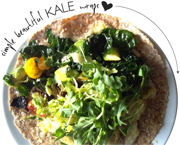 haven't tried this yetWraps Yum, Healthy Summer, Kale Wraps, Healthy Dinners, Simple Kale, Food, Quick Healthy, Wraps Recipe, Healthy Kale