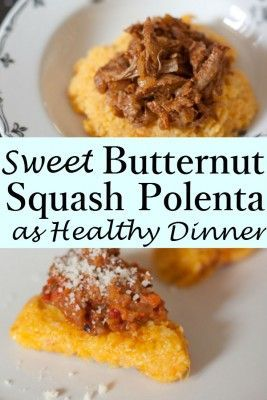 The sweetness of this Butternut Squash Polenta is simply undeniable ...