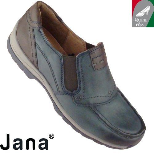 Jana női bőr cipő 8-24621-25 805 kék kombi