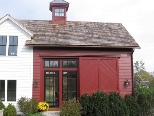 Farm House Renovation And Additions Rebuilt Attached Barn With New Glass Doors Transoms Sliding Door