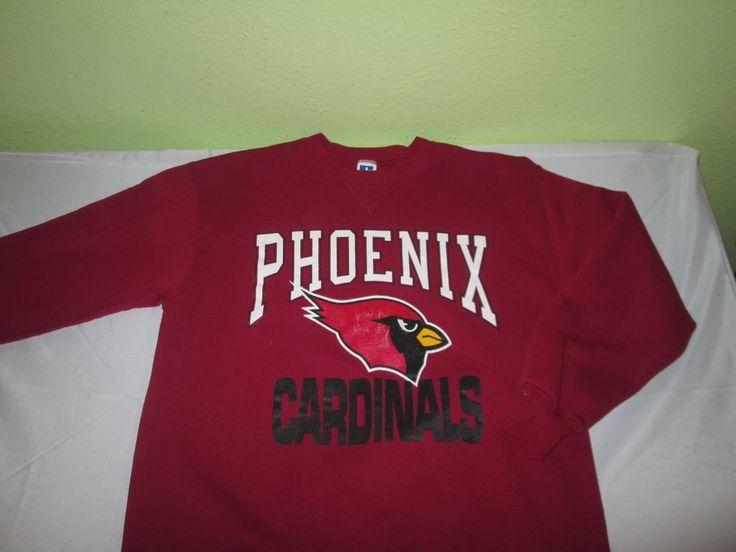 Vntg 80s PHOENIX  Arizona Cardinals NFL SWEATSHIRT  Sz XL - Red - Russell 50/50 #Russell #PhoenixCardinals