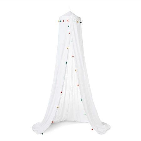 Tassel Bed Canopy One Size White - Pillowfort™ : Target