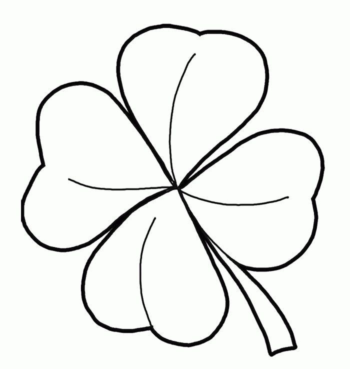 four leaf clover coloring pages four
