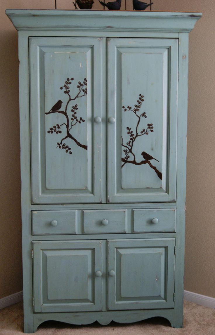 This Was A Tv Cabinet Repainted Stenciled And Great For