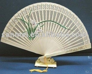 Fan Carved of Fragrant Wood