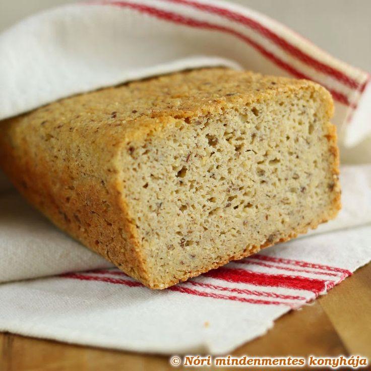 Teljes kiőrlésű házi kenyér (gluténmentes, tojásmentes, szójamentes)