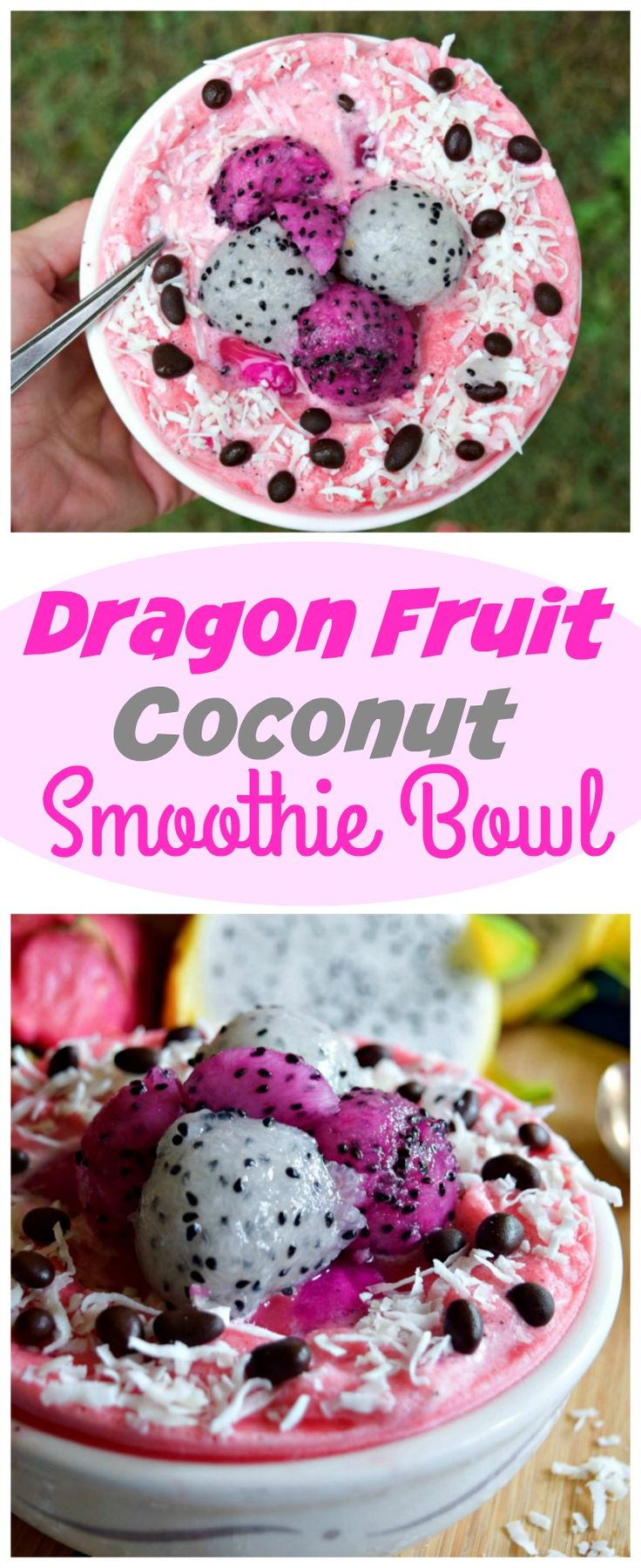 Dragon Fruit Coconut Smoothie Bowl Is Brimming With Beautiful Yumminess   The…