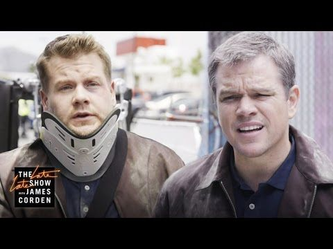 Matt Damon Tricks James Corden Into Being His Stunt Double in the New Jason Bourne Film