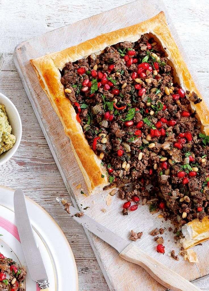 This wonderfully simple lamb tart recipe is excellent topped with a dollop of Greek yogurt and served with a fattoush salad.