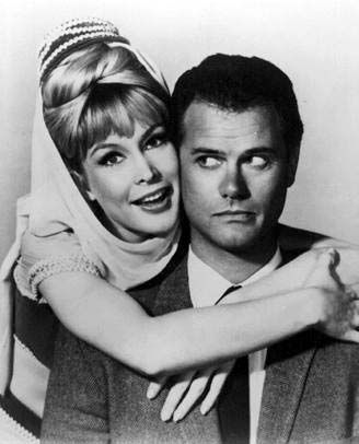 Barbara Eden and Larry Hagman in 'I Dream of Jeannie' 1965-1970