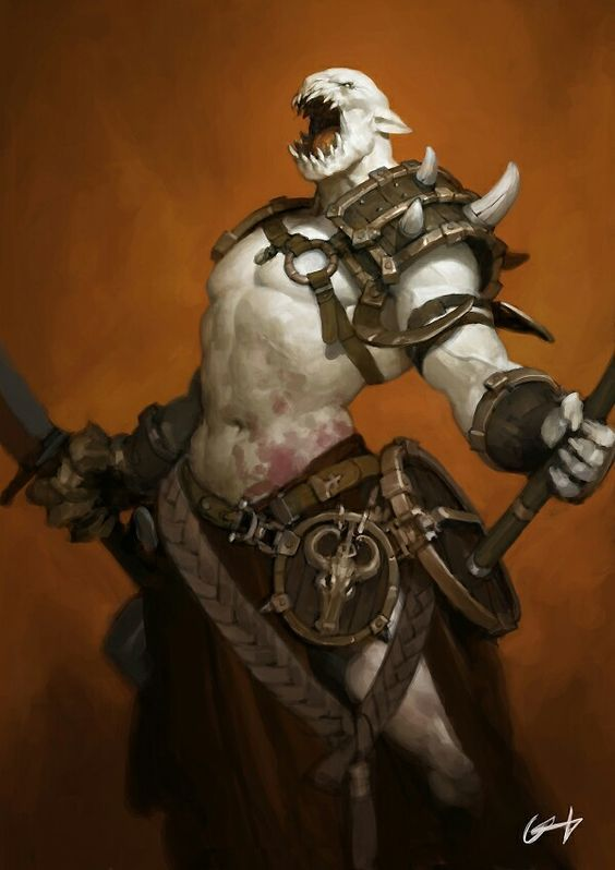 Ironskin, the White Orc of the Iron Legion