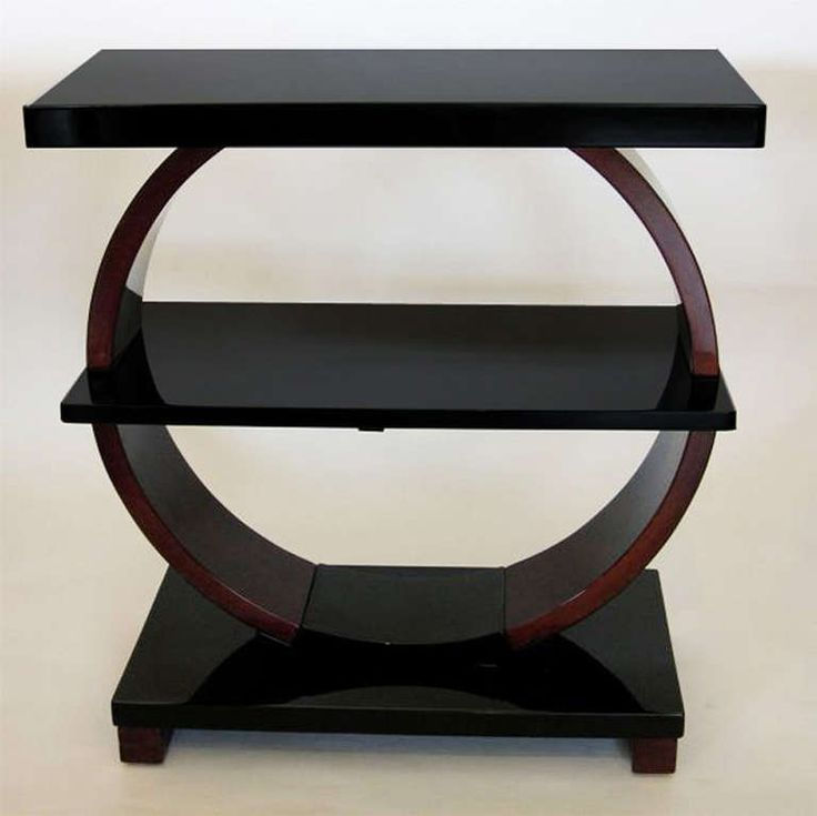 Pair Of Art Deco Side Tables In Mahogany U0026 Black Lacquer | From A Unique  Collection