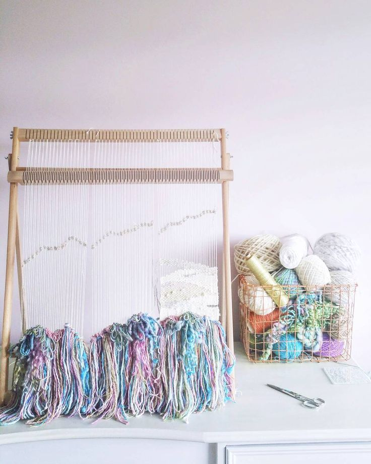 Working on a pretty triptych piece full of quirky colours and beautiful, natural fibres.