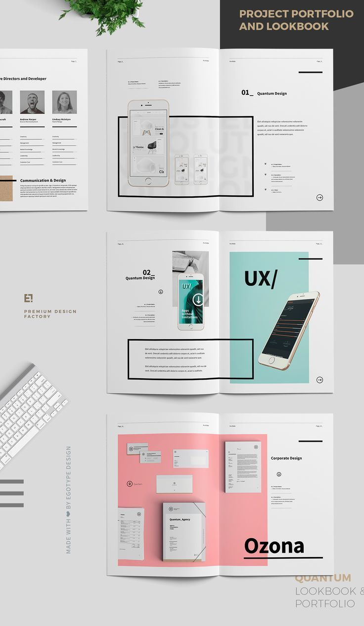 Project and Design Portfolio TemplateMinimal and Professional Work and Project Design Portfolio template for creative businesses