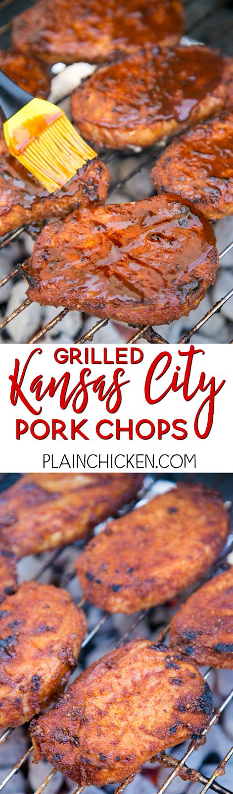 Grilled Kansas City Pork Chops | Plain Chicken