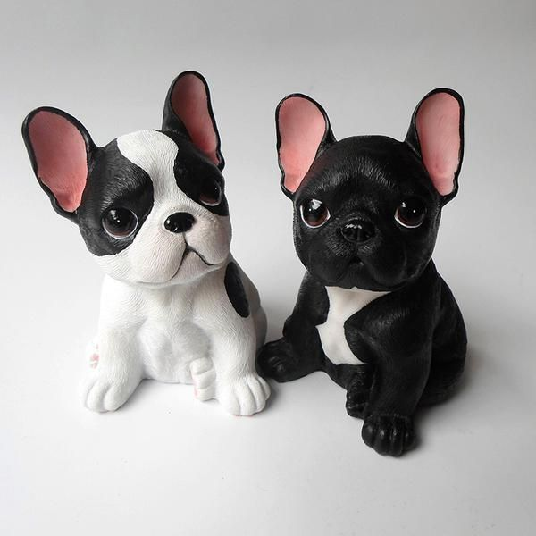 French Bulldog Resin Craft Polymer Clay Figures Bulldog Cute Polymer Clay