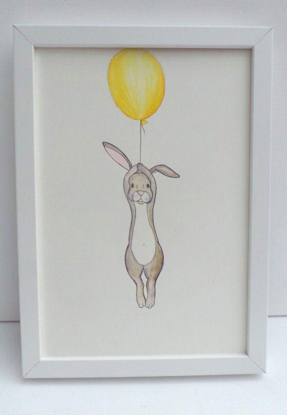 Schwimmende Kaninchen-Kindergarten von mylovebubble auf Etsy