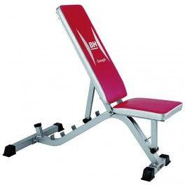 Banco de ejercicio multiposición con respaldo de 6 posiciones y asiento de 2 posiciones regulables BH Fitness ST5850 G585, uso doméstico regular