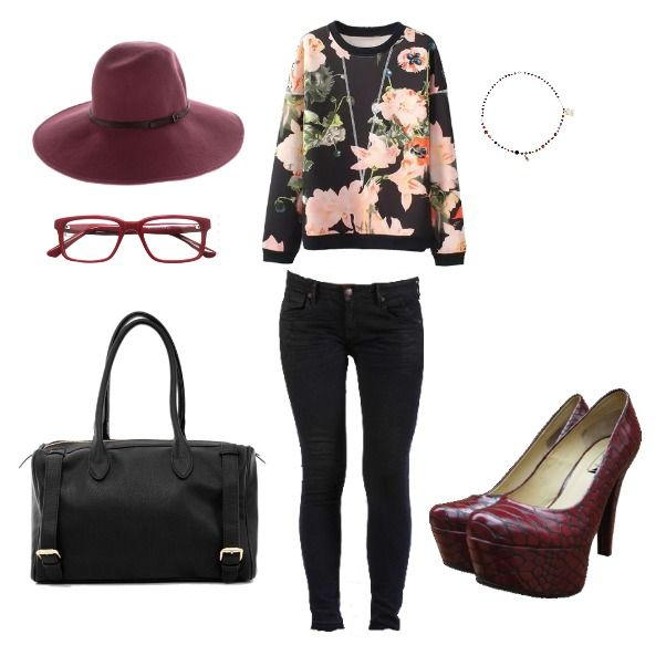 Outfit Chic Street redsnake, heelsup, sombrero, chic, style, foreveryoung en Colombia