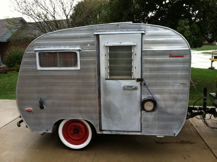 Best Tiny Trailers Images On Pinterest Car Camper Kitchen - Old shabby trailer gets one hell makeover