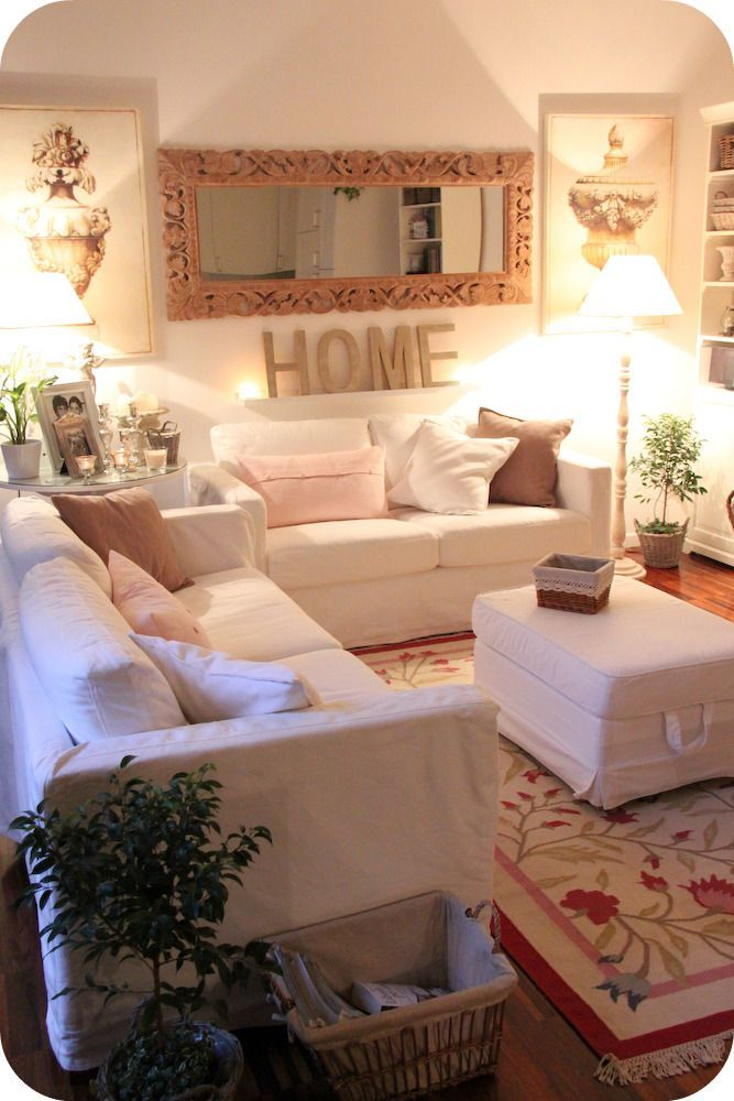 A crab trap side table and a lamp bookend this living room's Shabby Chic chaise lounge. Description from pinterest.com. I searched for this on bing.com/images