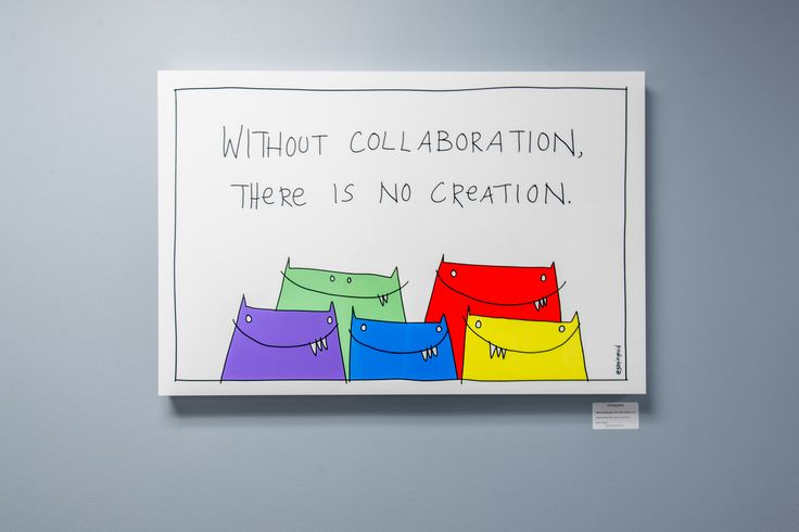 Without Collaboration | Gapingvoid Art in Mt Sinai Hospital