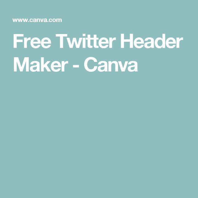 Free Twitter Header Maker - Canva